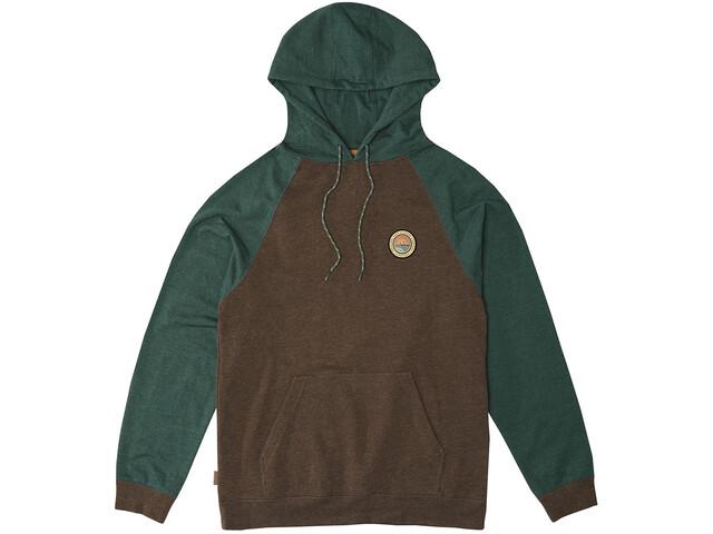 Hippy Tree Hoody Hættetrøje Herrer, brun/grøn